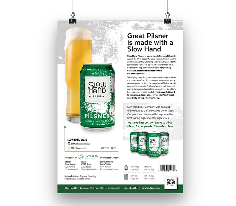 Advertising collateral for craft beer company