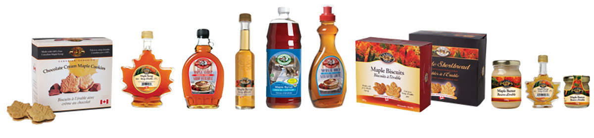 label design for maple syrup products