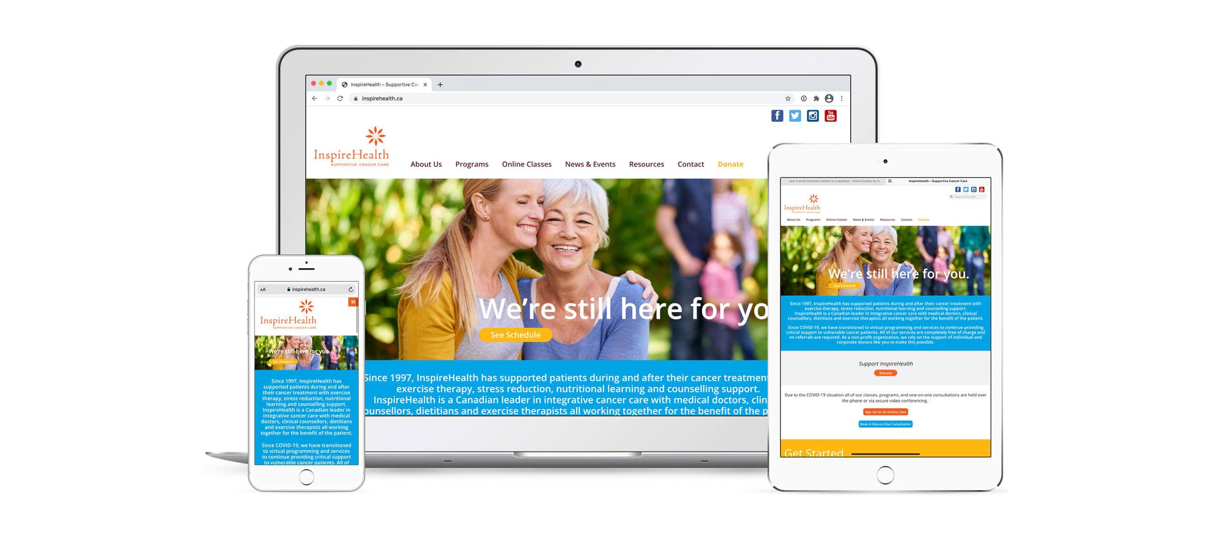 web design for health services